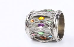 Indian Traditional silver Bangle Stock Images