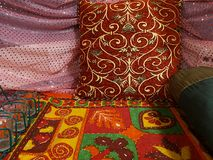 Indian traditional sitting arrangements Royalty Free Stock Image