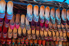 Indian traditional slippers Royalty Free Stock Image