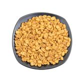 Indian Traditional Snack Food Masala Peanuts. Also Know as Masala Sing Masala Shing or Spicy Peanuts Coated with Spices isolated on white background stock photography