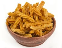 Soya snack. Indian traditional spicy Soya snack food royalty free stock image