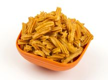 Soya snack. Indian traditional spicy Soya snack food stock photo