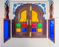 Indian traditional stained glass window Stock Images
