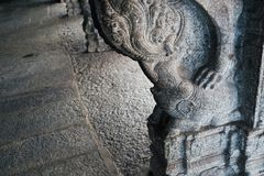 Indian traditional stone carving at Sri Virupaksha temple, Hampi, India. Indian traditional stone carving at Sri Virupaksha temple in Hampi, India stock photos