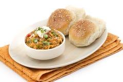 Pav Bhaji. Indian Traditional Street Food Pav Bhaji Royalty Free Stock Photos