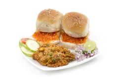 Pav Bhaji. Indian traditional street food Pav Bhaji Stock Photos