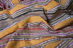 Indian traditional striped fabric Stock Photos
