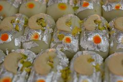 Indian Bengali sweets. Indian traditional sugary Bengali sweets Stock Photo