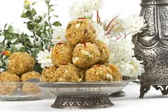 Urad Dal Laddu. Indian Traditional Sweet Food Urad Dal Laddu made of butter, dry fruits, fenugreek and other spices, laddu food mostly eat in winter season for stock photos