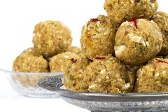 Urad Dal Laddu. Indian Traditional Sweet Food Urad Dal Laddu made of butter, dry ts, fenugreek and other spices, laddu food mostly eat in winter season for royalty free stock photography