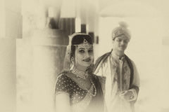 Indian Traditional Young Couple married. A newly married Indian Couple in tradition dress Royalty Free Stock Photos