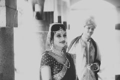 Indian Traditional Young Couple married. A newly married Indian Couple in tradition dress Stock Photos