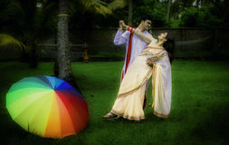 Indian Traditional Young Couple. A newly married Indian Couple in tradition dress Stock Photography