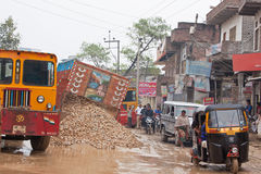 Indian Traffic Incident Stock Photo