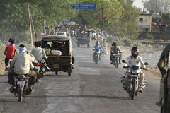 Indian Traffic Royalty Free Stock Images
