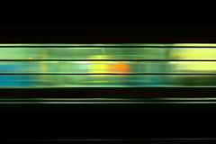 Indian train on track. Light window Stock Photography
