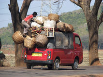 Indian transportation to the market Stock Images