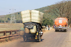 Indian transportation to the market Royalty Free Stock Images