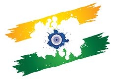 Indian tri-color national painted using colors Royalty Free Stock Photos