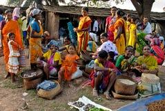 Indian Tribal Market Stock Photo
