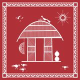 Indian tribal Painting Painting of a House Royalty Free Stock Photo