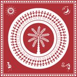 Indian tribal Painting. Warli Painting of a dance Royalty Free Stock Images