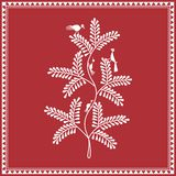 Indian tribal Painting. Warli Painting of a tree Royalty Free Stock Photos