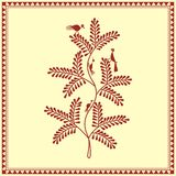 Indian tribal Painting. Warli Painting of a tree Stock Image