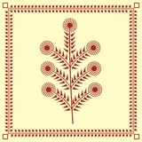Indian tribal Painting. Warli Painting of a tree Royalty Free Stock Photography