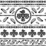 Indian tribal pattern background Stock Image