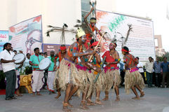 Indian Tribal people perform traditional dance Royalty Free Stock Photography