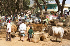 Indian tribal rural weekly market Stock Photos