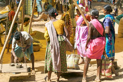Indian tribal rural weekly market Royalty Free Stock Photos