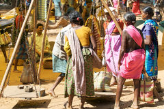 Indian tribal rural weekly market Stock Photo
