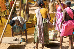 Indian tribal rural weekly market Stock Image