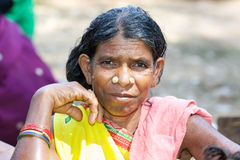 Indian tribal woman Royalty Free Stock Images