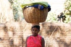 Indian tribal woman Stock Image