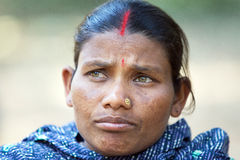 Indian tribal woman Stock Photo