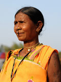 Indian tribal woman portrait Stock Photo