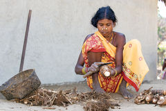 Indian tribal women in the village Stock Photography