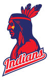 Indian tribe mascot. Vector of indian tribe mascot Royalty Free Stock Photos