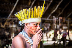 Indian tribe ritual in Amazon, Brazil Stock Photography