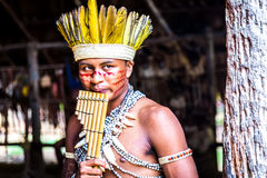 Indian tribe ritual in Amazon, Brazil Royalty Free Stock Images