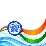 Indian Tricolor Background. Vector illustration of swirly background of Indian Tricolor flag Royalty Free Stock Photo