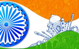 Indian Tricolor Background Royalty Free Stock Images
