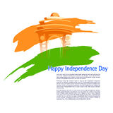 Indian tricolor background for 15th August Happy Independence Day of India. Vector illustration of Indian tricolor background for 15th August Happy Independence Royalty Free Stock Photos