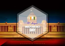 Indian tricolor background for 15th August Happy Independence Day of India. Vector illustration of Indian tricolor background for 15th August Happy Independence Royalty Free Illustration