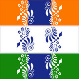 Indian tricolor.  illustration. Royalty Free Stock Photo