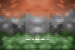 Indian tricolors on triangle geometric background Stock Image