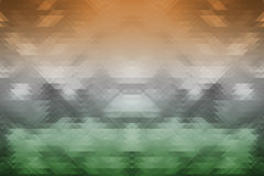 Indian tricolors on triangle geometric background Stock Images